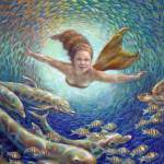"""205-FantasticJourney-mermaid"" by nancytilles"