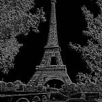 """Eiffel Tower Seine River Charcoal Negative"" by TheNorthernTerritory"