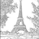 """Eiffel Tower Seine River Charcoal"" by TheNorthernTerritory"