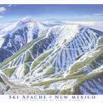 """Ski Apache Resort, New Mexico"" by jamesniehuesmaps"