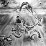 """Blood In The Water"" by AlexisRosasco"