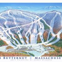 """Ski Butternut, Massachusetts"" by jamesniehuesmaps"