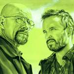 """Walter White and Jesse Pinkman (Green)"" by KellyEddington"