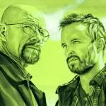"""Walter White and Jesse Pinkman (Green)"" by KellyEddington"