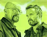 Walter White and Jesse Pinkman (Green)
