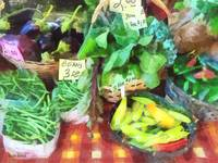 Farmer's Market - Peppers and String Beans