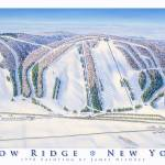 """Snow Ridge New York"" by jamesniehuesmaps"