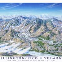 """Killiton /Pico Resorts, Vermont"" by jamesniehuesmaps"