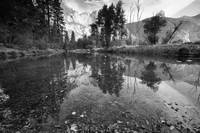 Yosemite (Reflection - B/W)