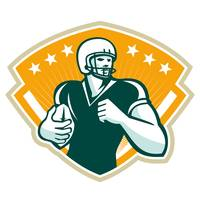 American Football Runningback Crest