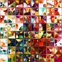 Tile Art 11 2013. Modern Mosaic Tile Art Painting