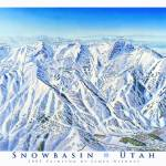 """Snowbasin Resort Utah"" by jamesniehuesmaps"