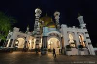 Ubudiah Mosque at Night