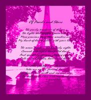 Of Pearls & Stars Violet Pink Eiffel Tower