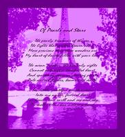 Of Pearls & Stars Eiffel Tower Seine River Violet