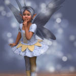 """Cute Kid Fairy in Blue"" by walbyent"