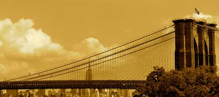 Sepia Brooklyn Bridge