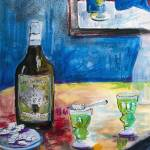"""Absinthe forTwo Still Life by Ginette"" by GinetteCallaway"
