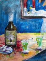 Absinthe forTwo Still Life by Ginette