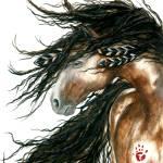 """Wind Song Spirit Horse"" by AmyLynBihrle"
