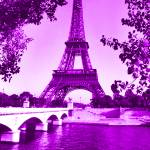 """Eiffel Tower Seine River Violet cropped"" by TheNorthernTerritory"