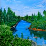 """Adirondack Stream"" by jnavarroartwerx"