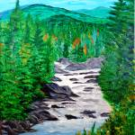 """Downstream on the Ausable River"" by jnavarroartwerx"