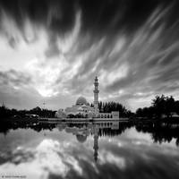 White Mosque with Monsoon