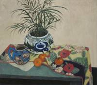 Pottery Fruit and Fern  1999  30x34  (1020)  ol  S