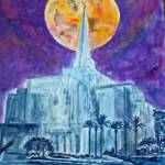 """Full Moon over Gilbert AZ Temple_edited-1"" by PaulC"