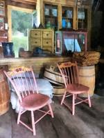 Two Pink Chairs in General Store