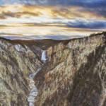 """Grand Canyon of Yellowstone Evening"" by wildlifegiftstore"