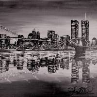 Brooklyn View B&W Art Prints & Posters by Joe Navarro