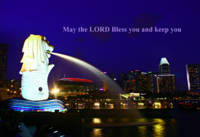 Bless you, Merlion and Singapore City