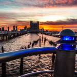 """communications pier 25 at sunset"" by etravus"