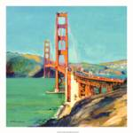 """west Golden Gate Bridge rd riccoboni square"" by RDRiccoboni"