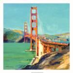 """west Golden Gate Bridge rd riccoboni square"" by RDRiccoboni"