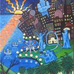 """""""Montevideo Lights"""" by Genevieve"""