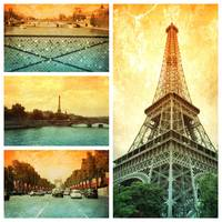 Sights of Paris Collage
