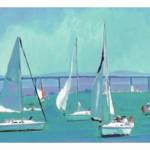 """Sailing San Diego Bay LONG ltd frame"" by BeaconArtWorksCorporation"