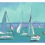 """""""Sailing San Diego Bay LONG ltd frame"""" by RDRiccoboni"""