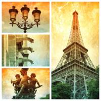 Textures of Paris Collage