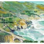 """bixby bridge to big sur rd riccoboni framed"" by BeaconArtWorksCorporation"