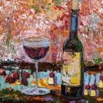 """Red Wine Still Life Impression by Ginette"" by GinetteCallaway"