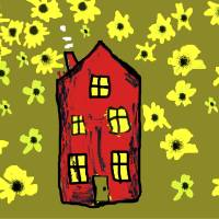 Sunflower House Art Prints & Posters by Neal Wiseman