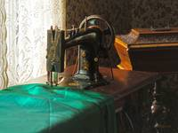Vintage Sewing Machine Near Window