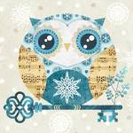"""Winter Wonderland Owl"" by sandygrafik_arts"