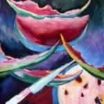 """Still life with watermelon"" by eva-kryshtapovich"