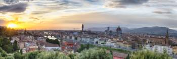 Sunset Panorama of Florence, Tuscany, Italy