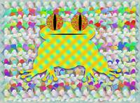 Frog In A Sea Of Petals